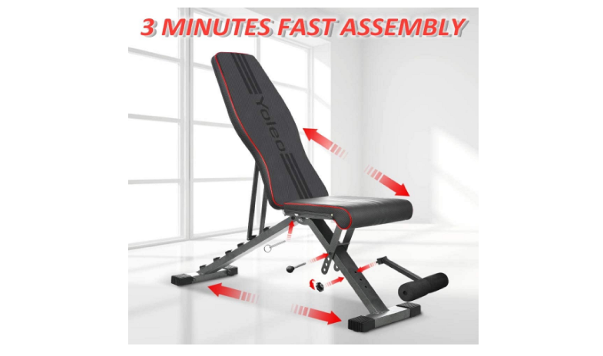 yoleo foldable weight bench