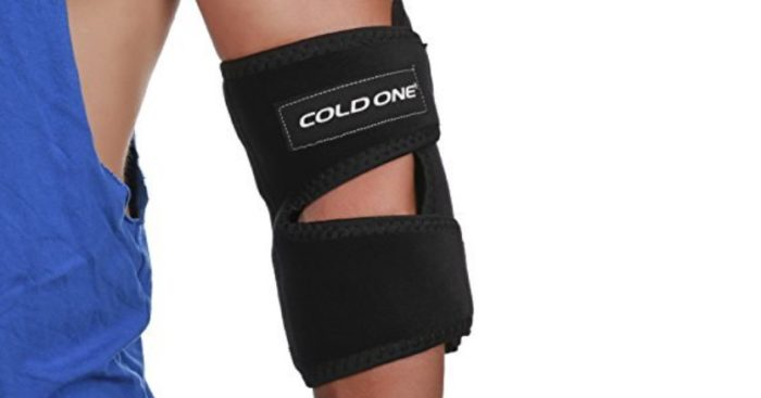 Cold One elbow brace ice pack