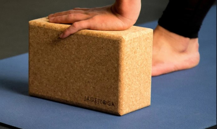 yoga blocks made of cork