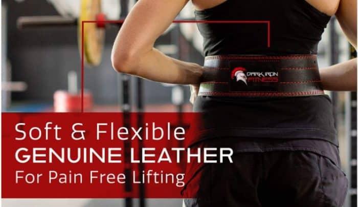 Dark Iron Fitness leather weightlifting belt
