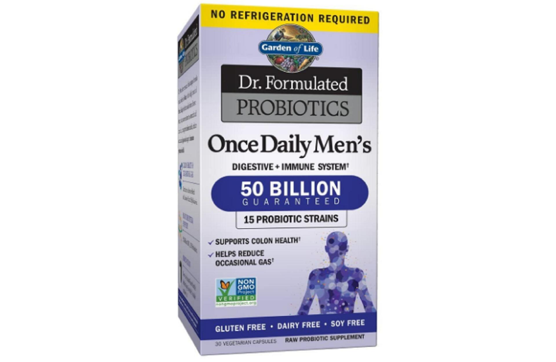 garden of life dr. formulated probiotics for men