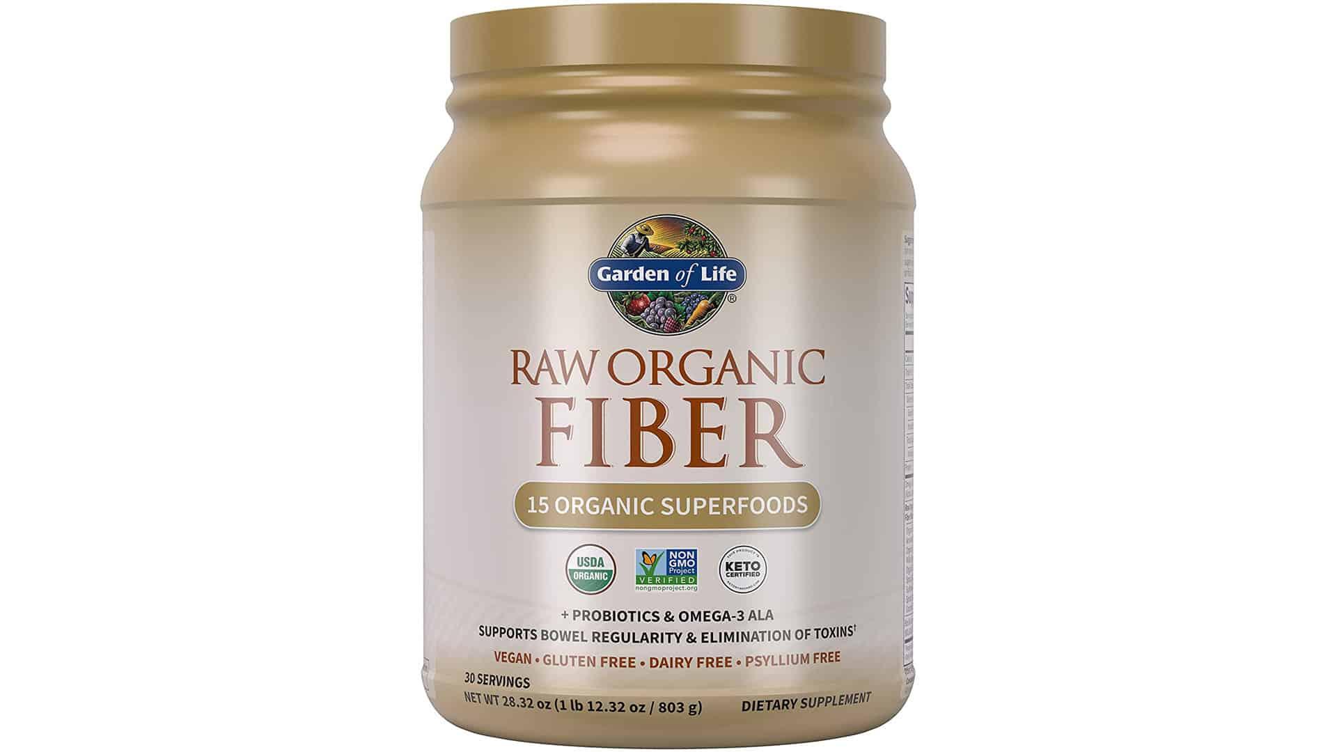 Garden of Life- Organic Raw Organic fiber supplement