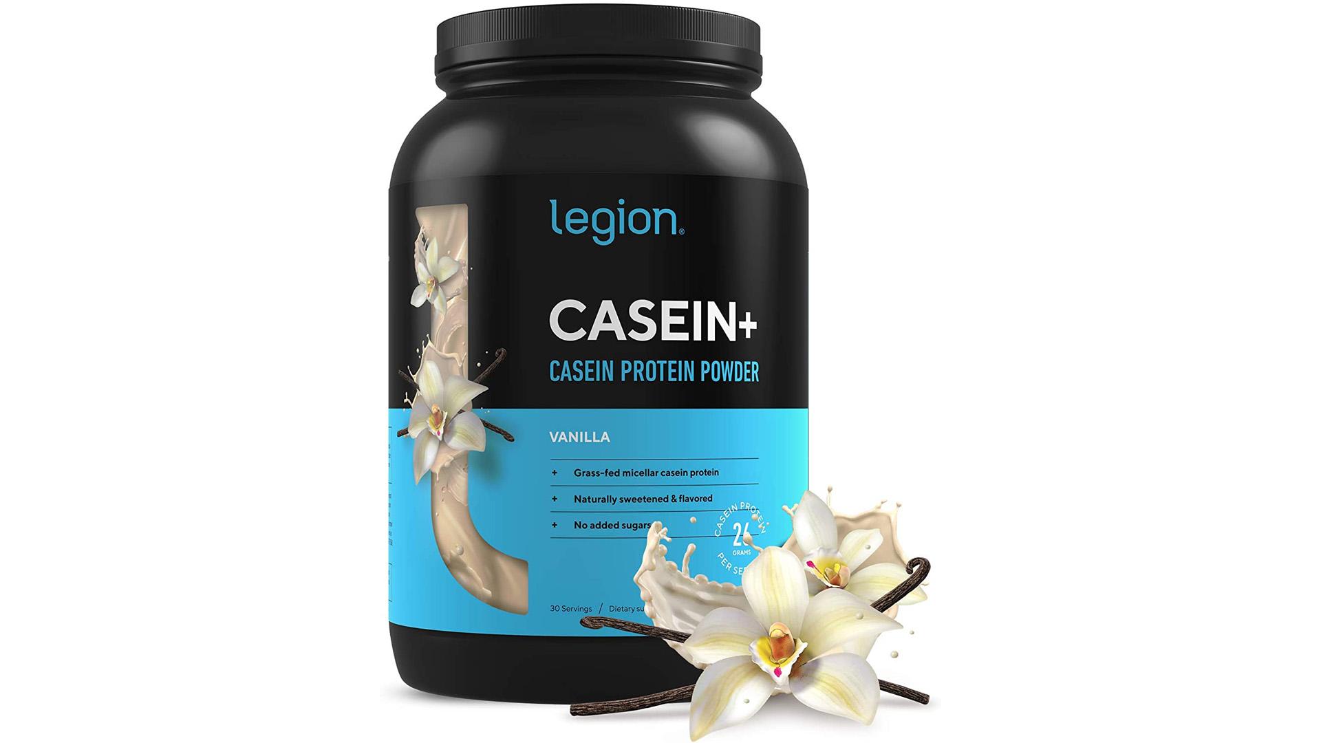 Legion Athletics Casein+ Vanilla Pure Micellar Casein Protein Powder