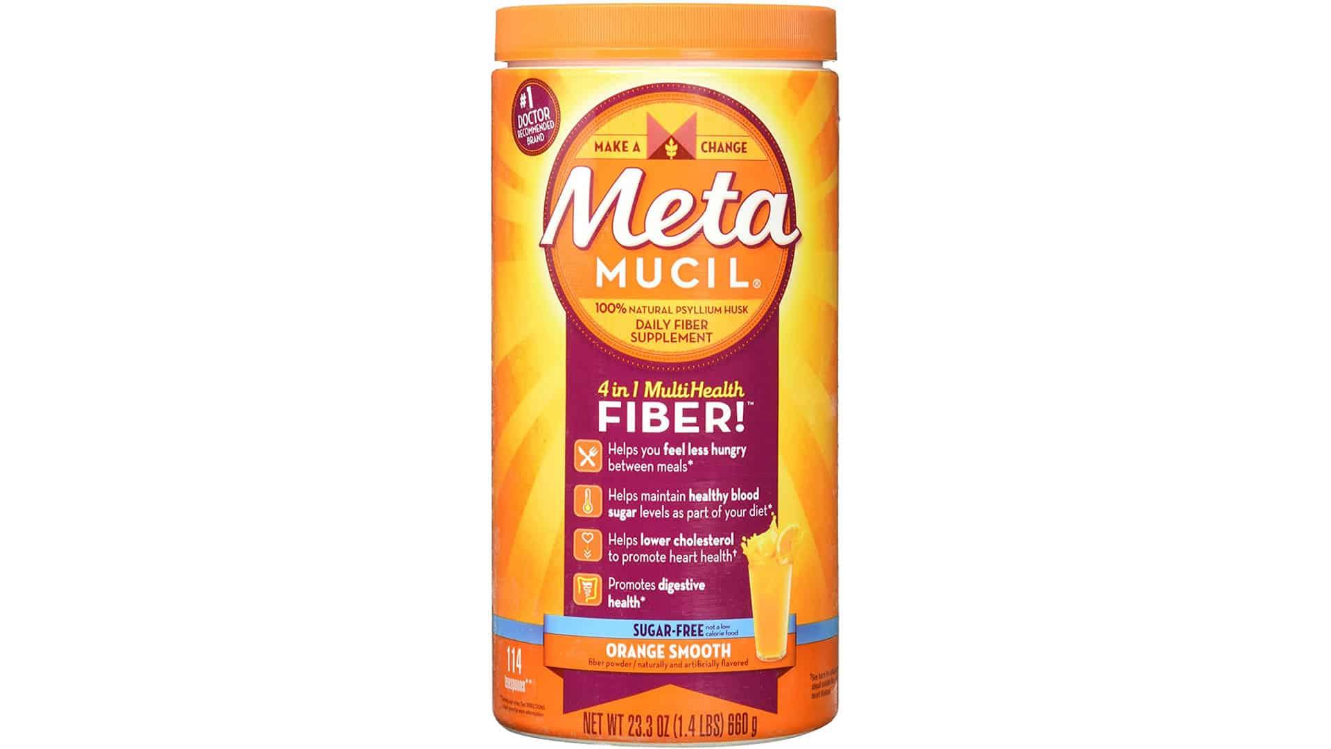 Metamucil Sugar-Free Orange Smooth Powder