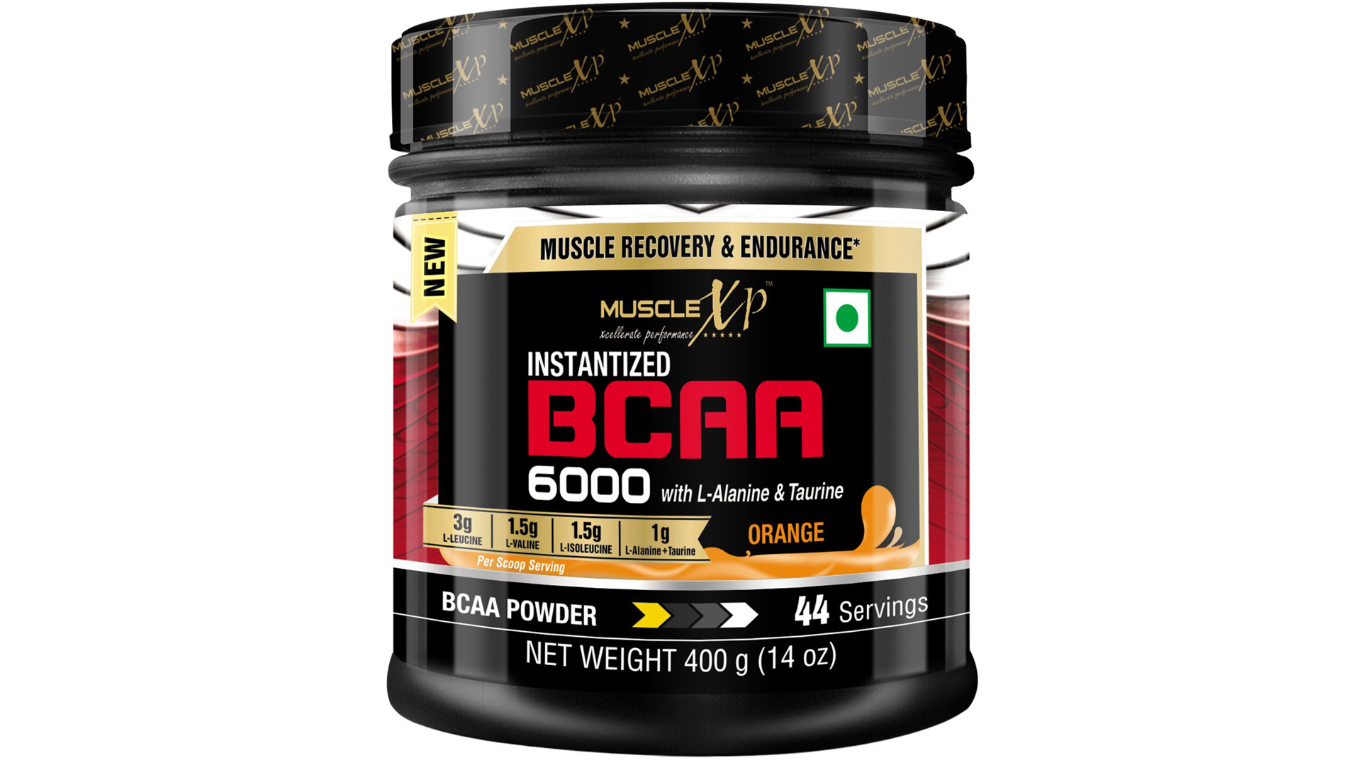 MuscleXP Instantized BCAA 6000 with L-Alanine & Taurine – 400g