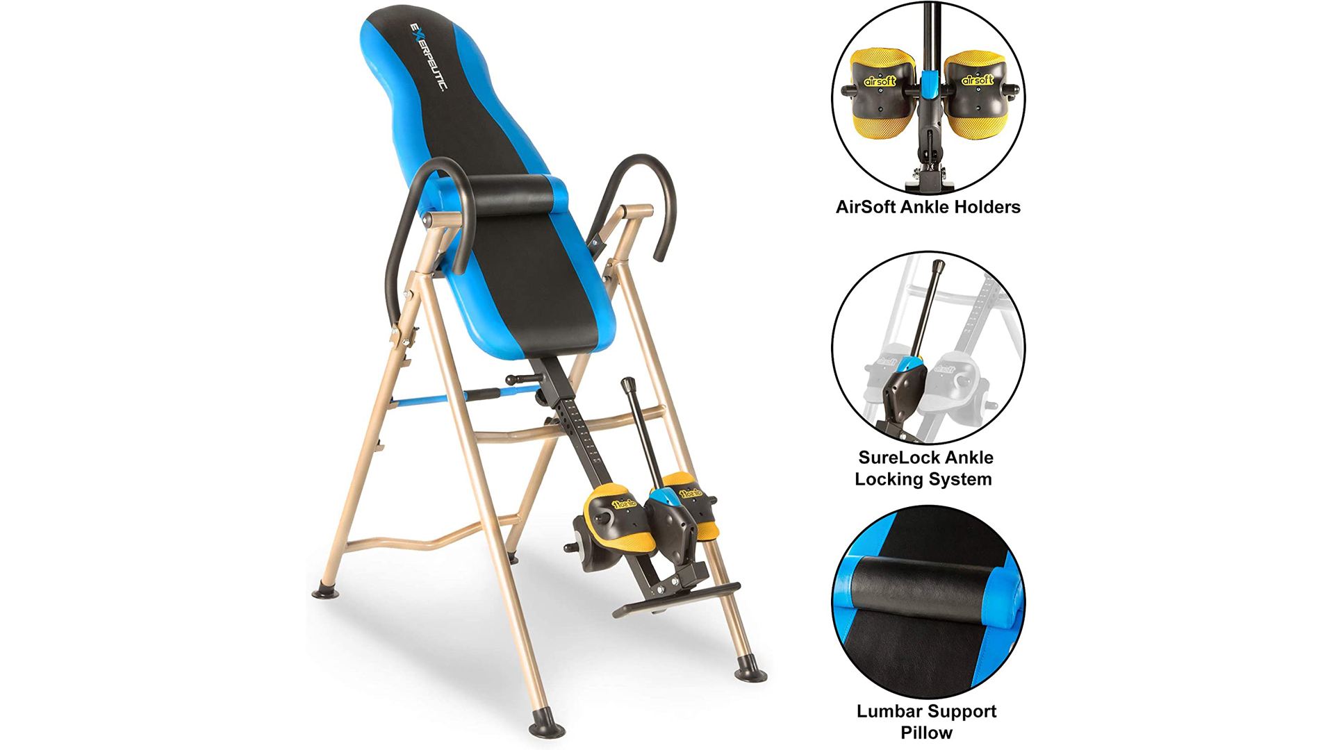 Exerpeutic Inversion Table with SURELOCK and AIRSOFT