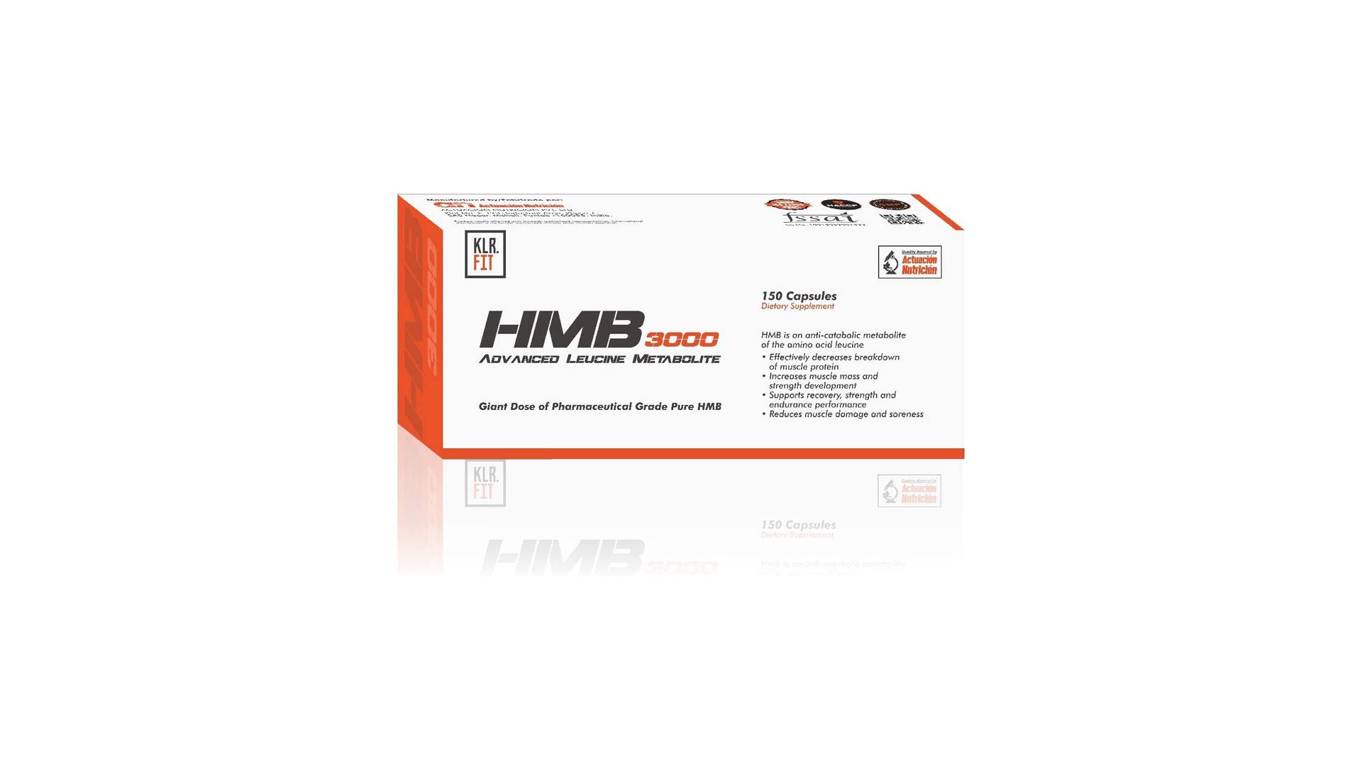 Klr.Fit's HMB 3000 Advanced Leucine Metabolite.
