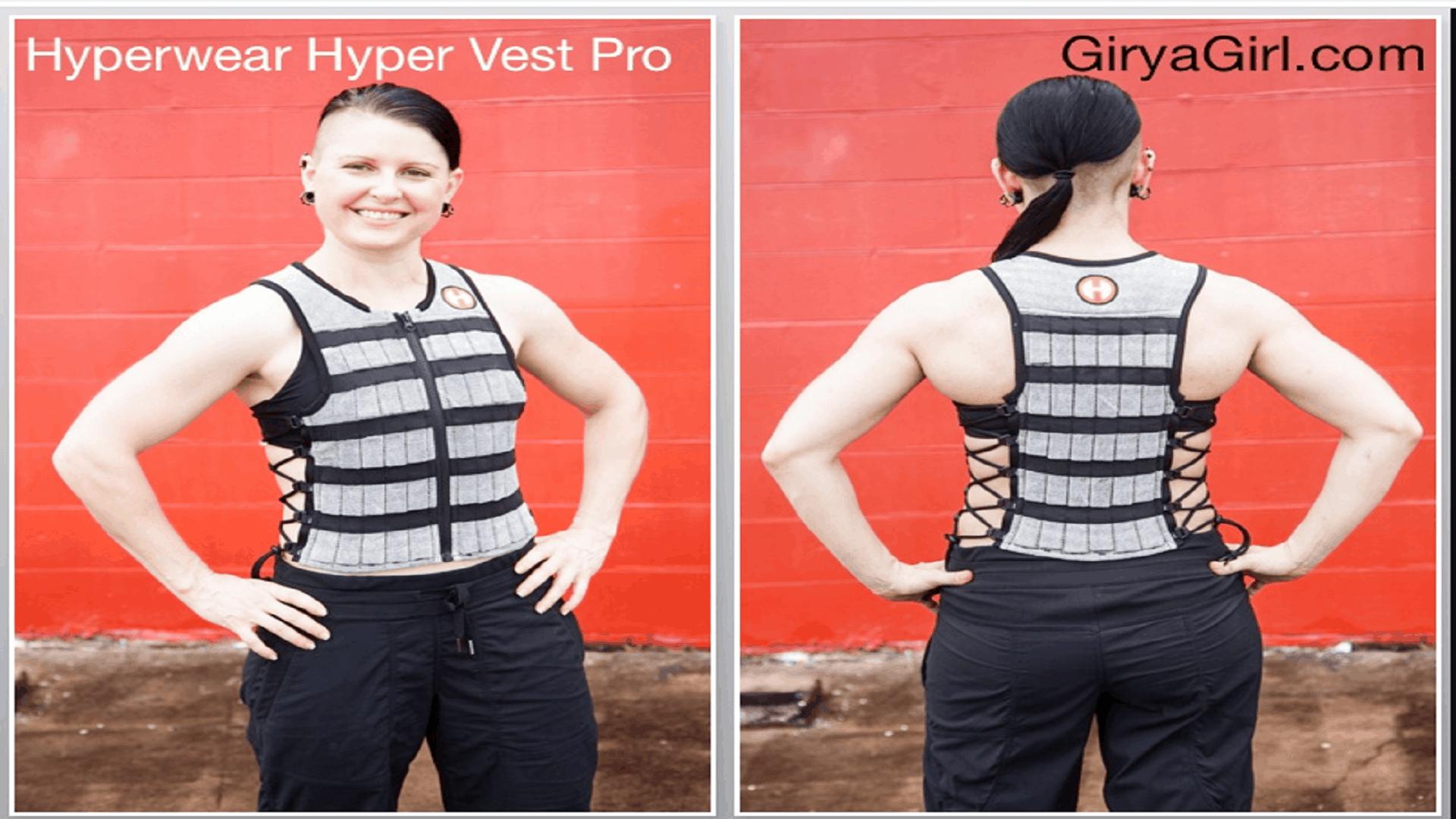 hyperwear hyper vest pro adjustable weighted vest