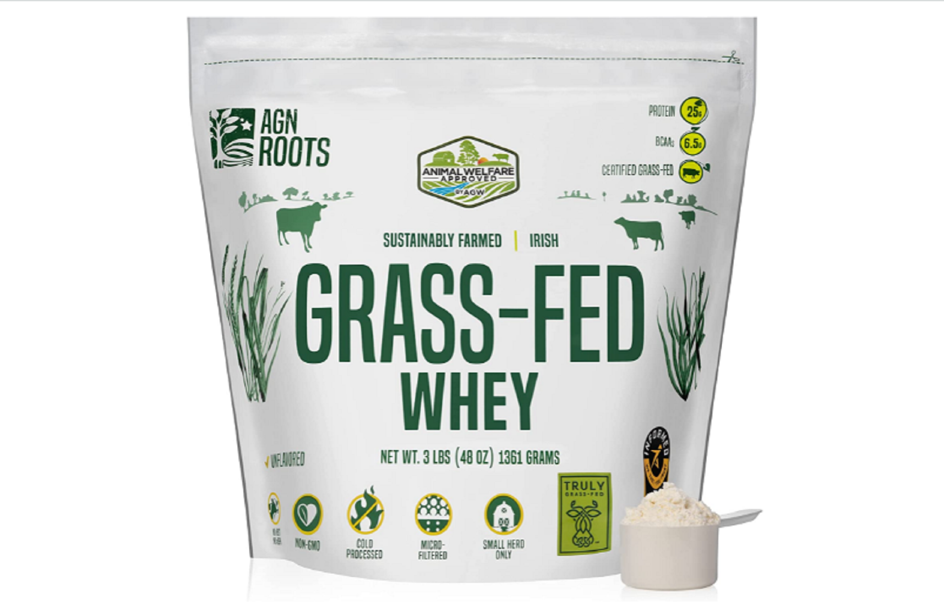 agn roots grass-fed whey