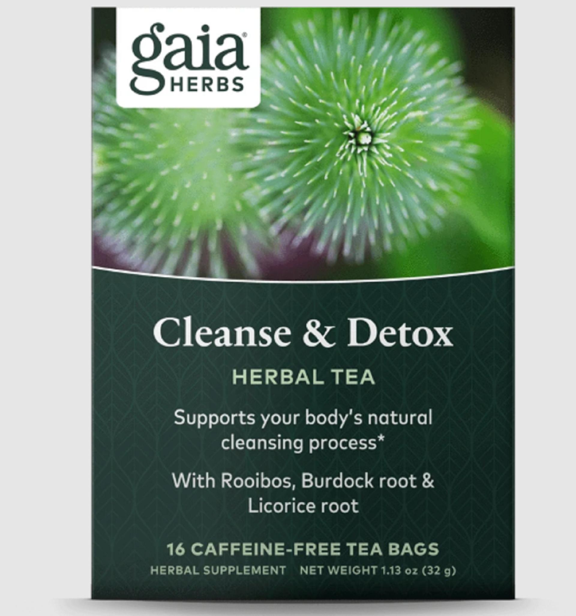gaia herbs detox tea