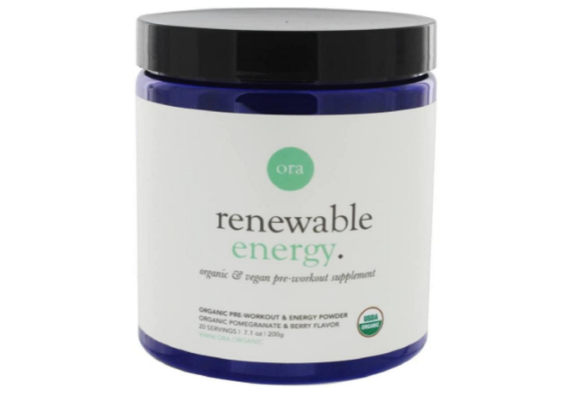 ora organic natural pre-workout supplement