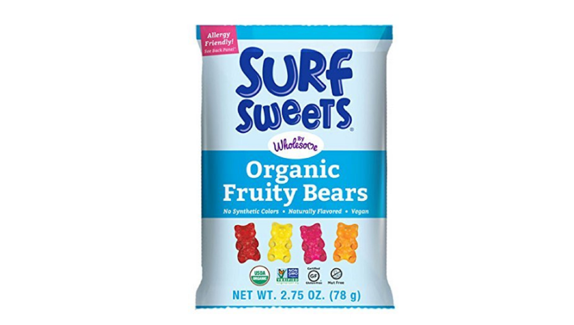 surf sweet organic gummy bears