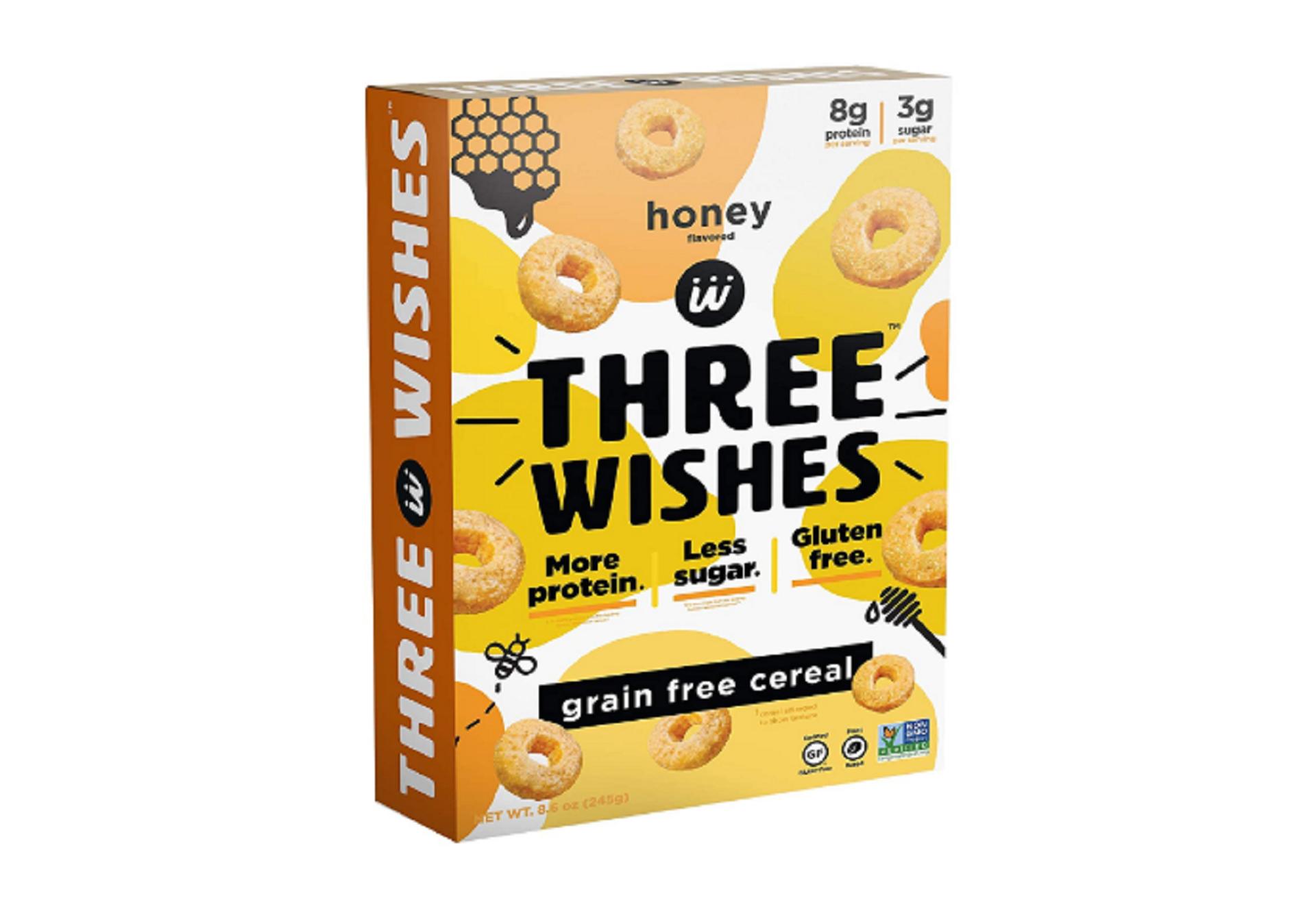three wishes vegan cereal brand