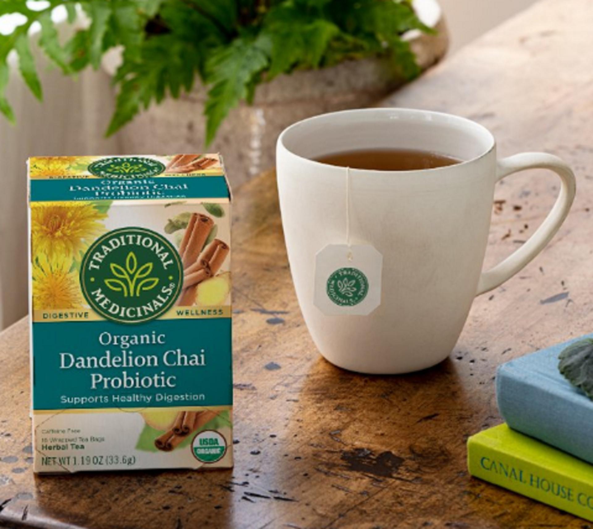 traditional medicinal organic dandelion probiotic tea